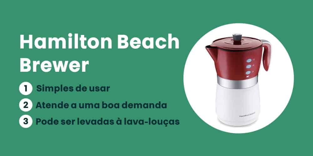 Hamilton Beach Brewer e boa