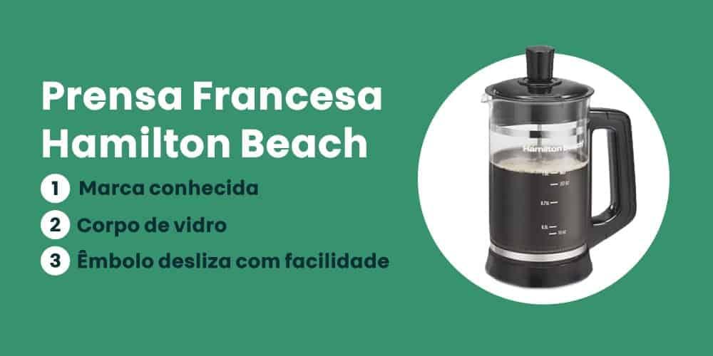 Prensa Francesa Hamilton Beach e boa