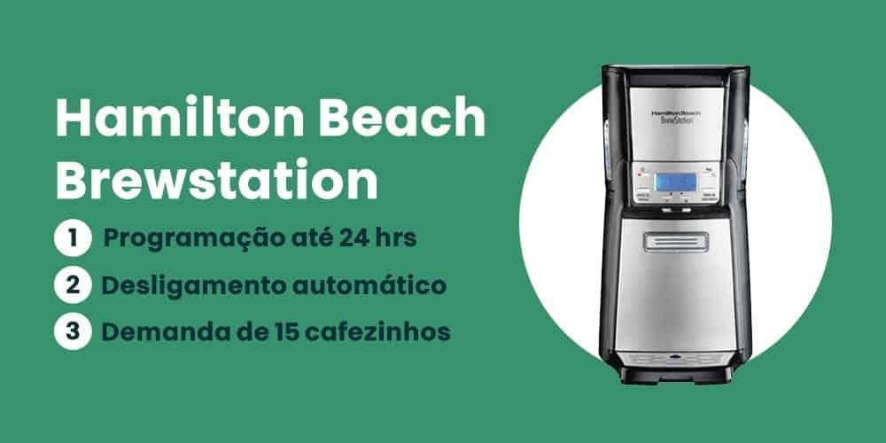 cafeteira Hamilton Beach Brewstation e boa