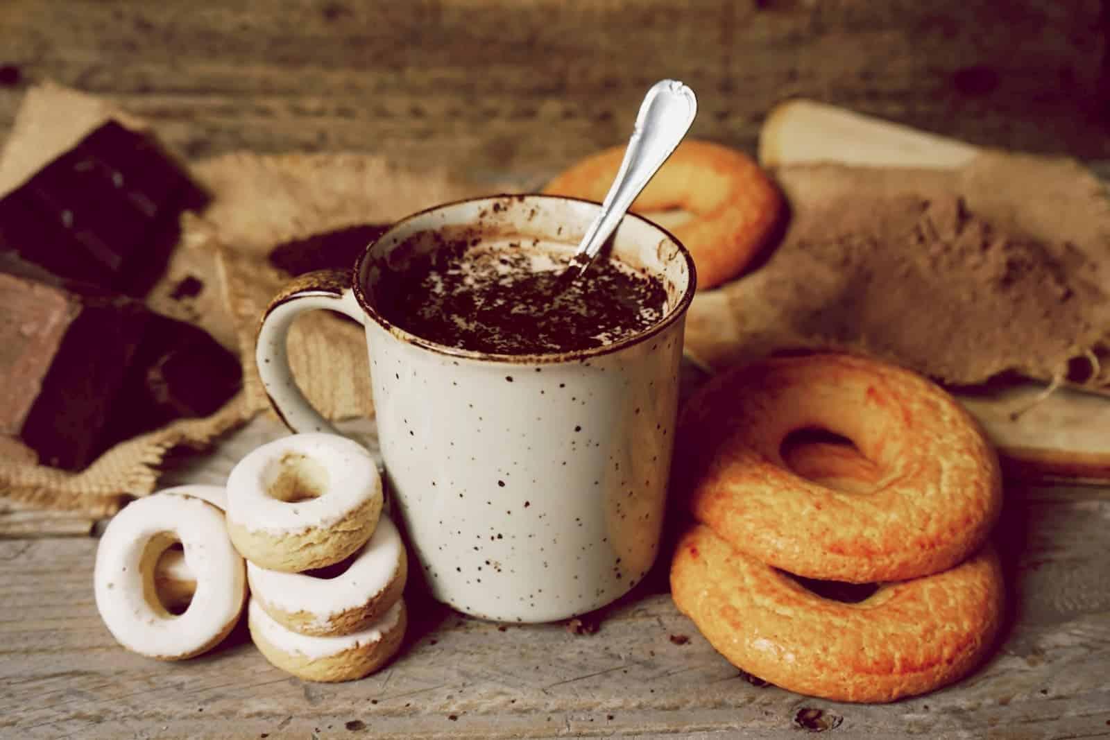café preparado para tomar