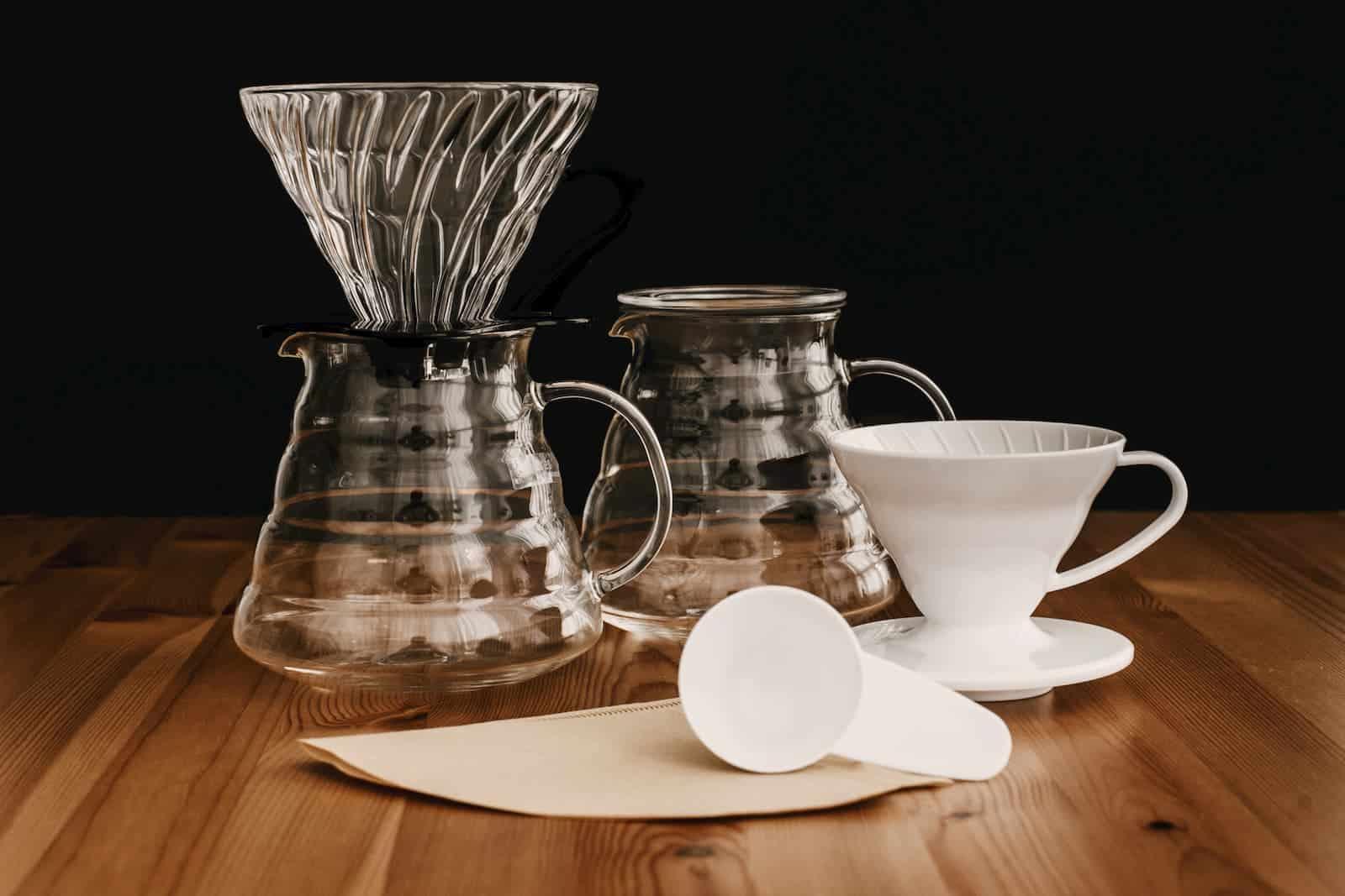 itens necessários para preparar café