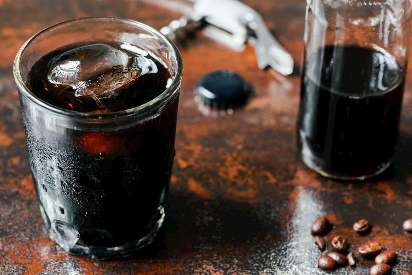 copo de café com gelo
