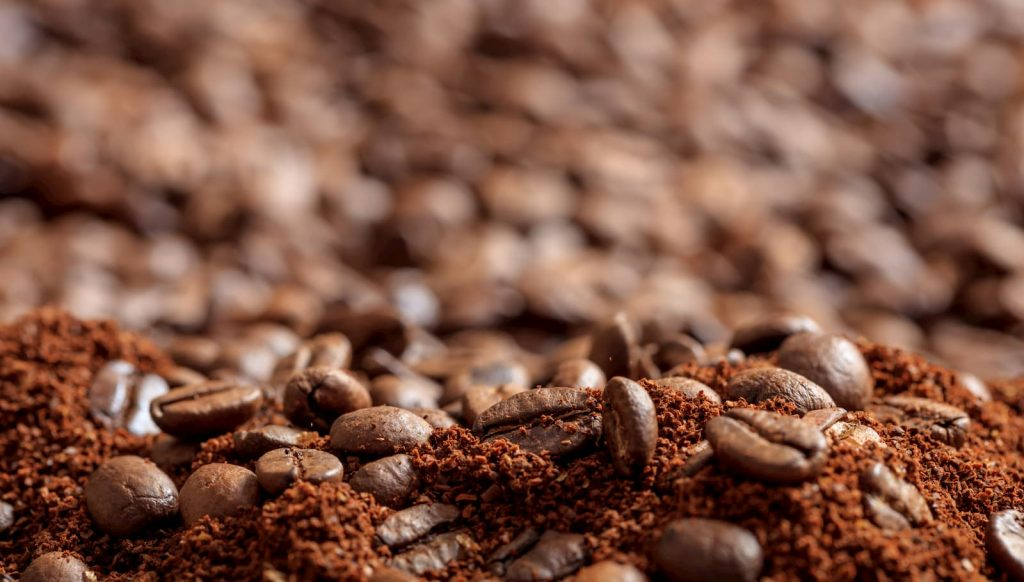 pó de café solúvel