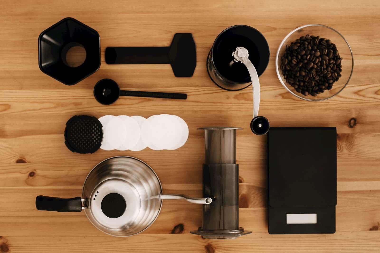 utensílios utilizados para preparar
