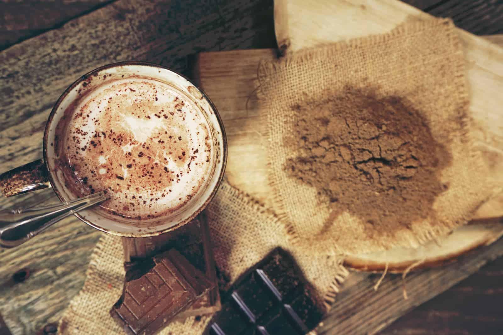 xícara de café instantâneo