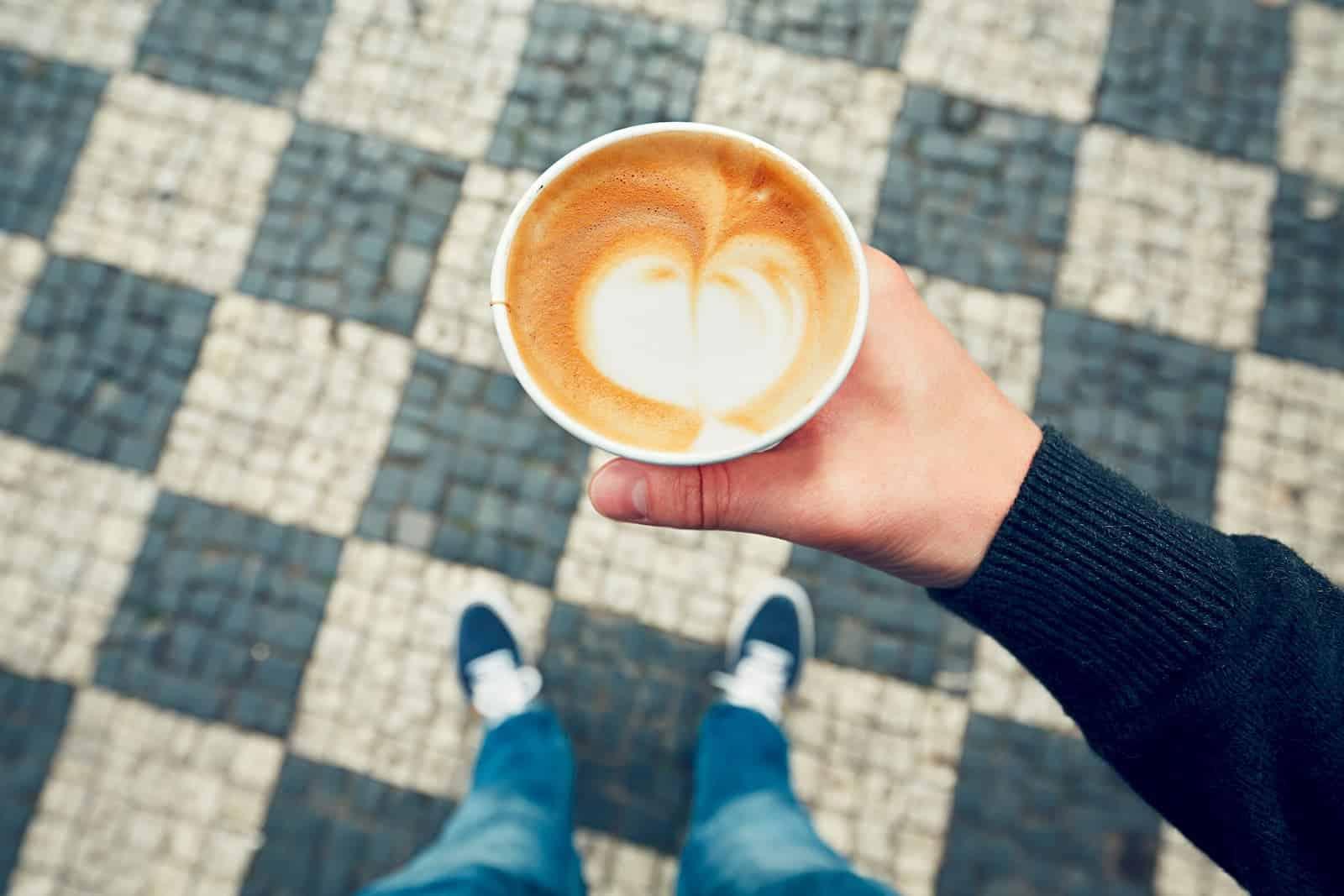 xícara de café pronto