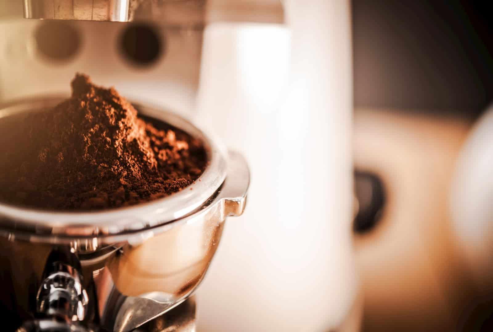 café moído no cachimbo